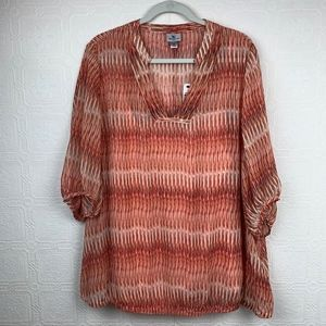 New Worthington Top 2X Blouse and Tank Coral A36